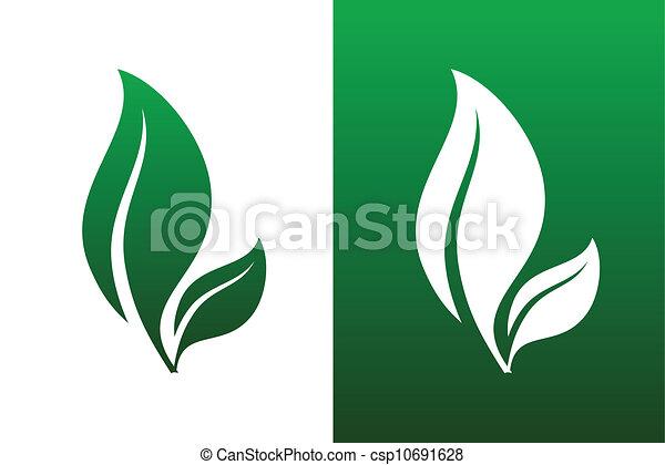 Ilustraciones de vector de par de hojas - csp10691628