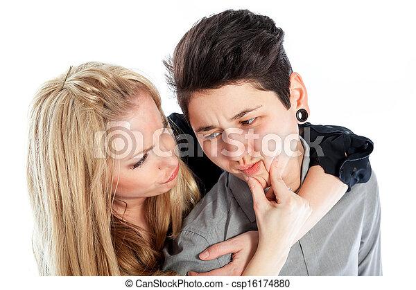 Långt hår lesbisk sex