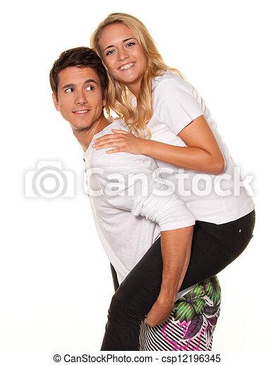 par, jovem, joy., rir, divertimento, tem - csp12196345