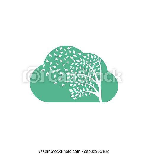 par, leafs., souffler, vent - csp82955182