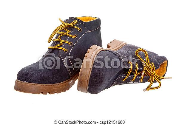 Un par de botas moradas - csp12151680