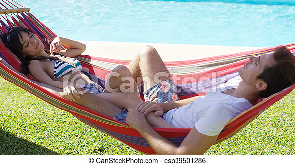 par, rede, jovem, relaxante - csp39501286