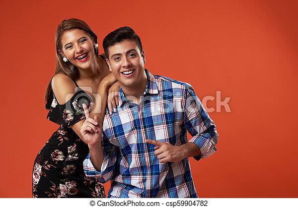 par, rir, jovem - csp59904782