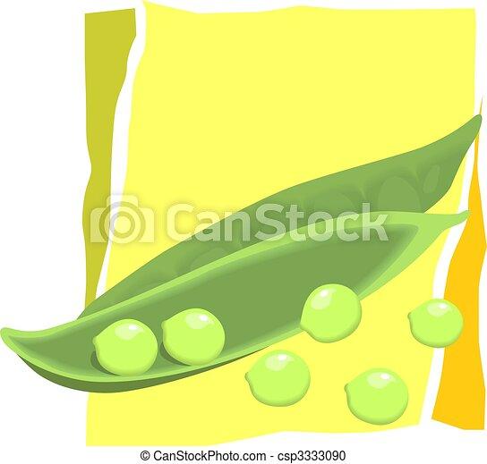 Un par de frijoles y semillas - csp3333090