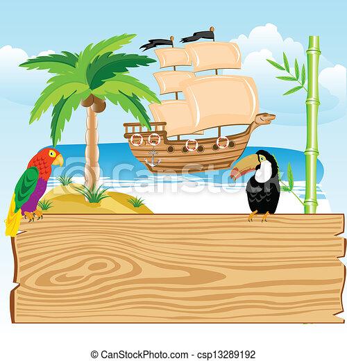 El paraíso tropical - csp13289192