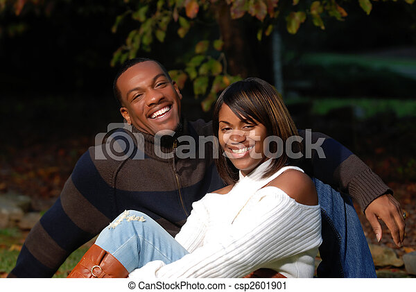 para, afrykańska-amerikanka - csp2601901