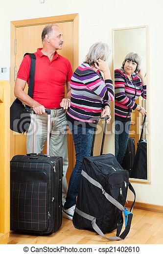 para, bagaż, dojrzały - csp21402610