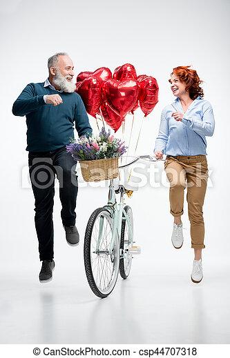 para, rower, dojrzały - csp44707318