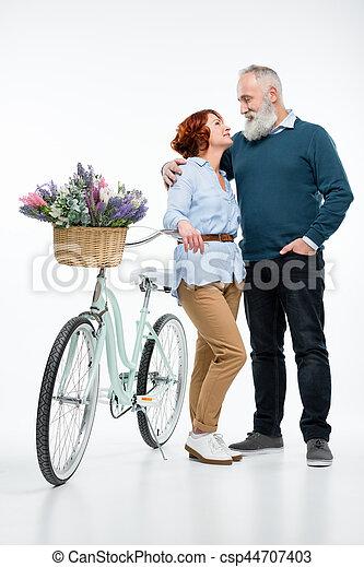 para, rower, dojrzały - csp44707403