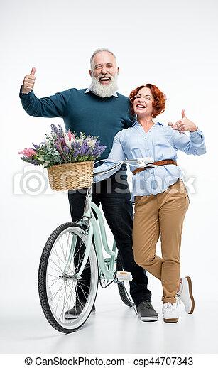 para, rower, dojrzały - csp44707343