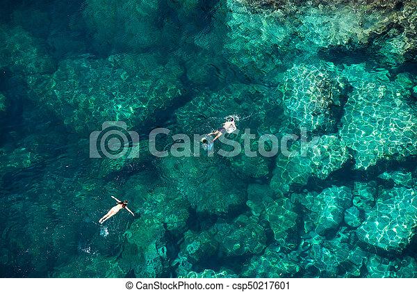 para, snorkeling, morze - csp50217601