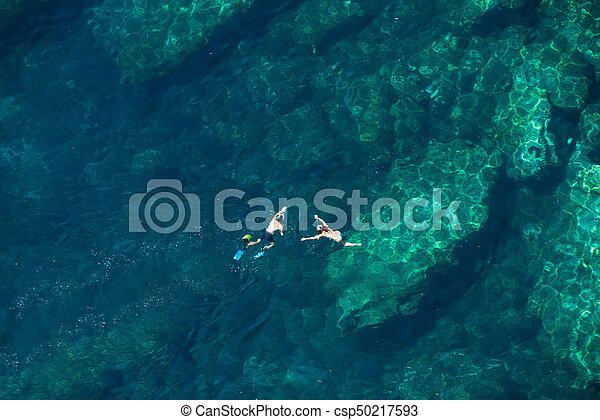 para, snorkeling, nad, prospekt morza - csp50217593