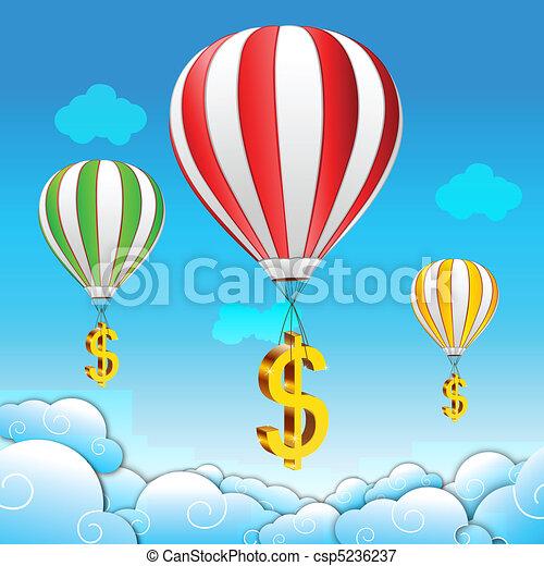 Un paracaídas de dólar - csp5236237