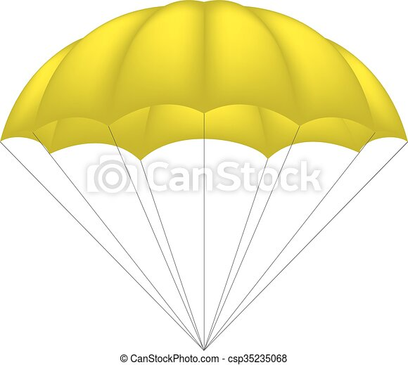 Paracaidismo en diseño amarillo - csp35235068