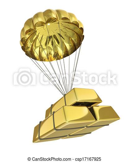 Un paracaídas dorado - csp17167925