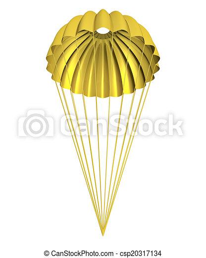 Un paracaídas dorado - csp20317134