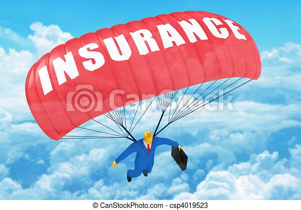 Paracaidas de seguros - csp4019523