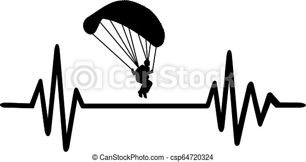 Parachute heartbeat line - csp64720324