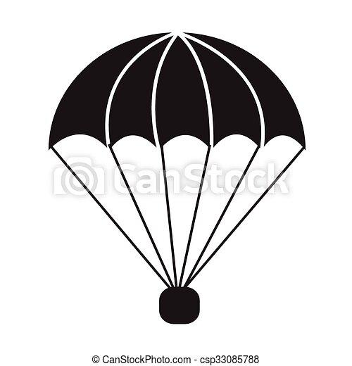 Parachute icon illustration symbol design - Dessin parachutiste ...