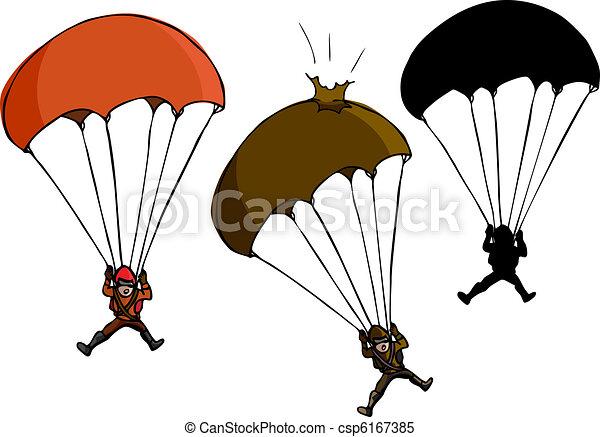 Parachute Jumper - csp6167385