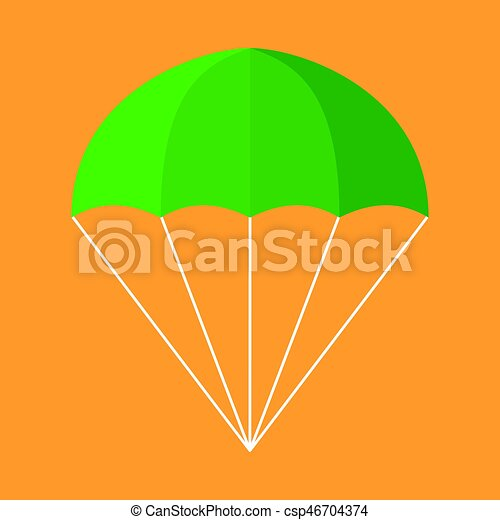 parachute vector icon illustration of a parachute isolated rh canstockphoto com parachute vector micron parachute vector download