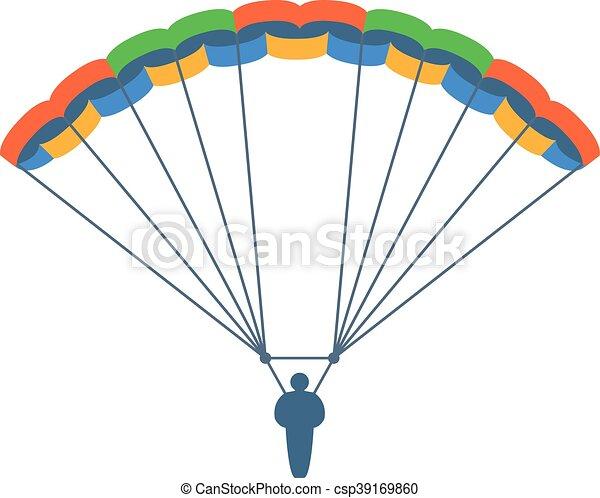 parachute vector illustration fly illustration fly clip art rh canstockphoto com parachute vector micron parachute vector art