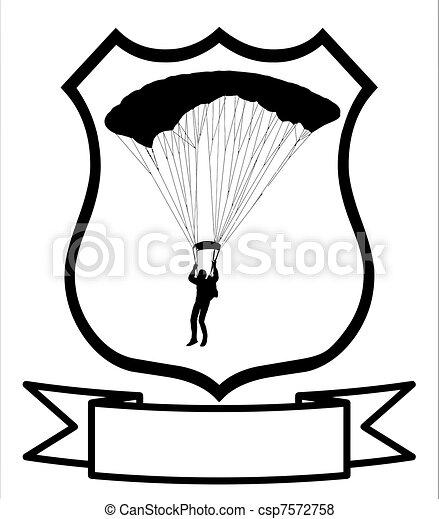 Escudo paracaidista - csp7572758