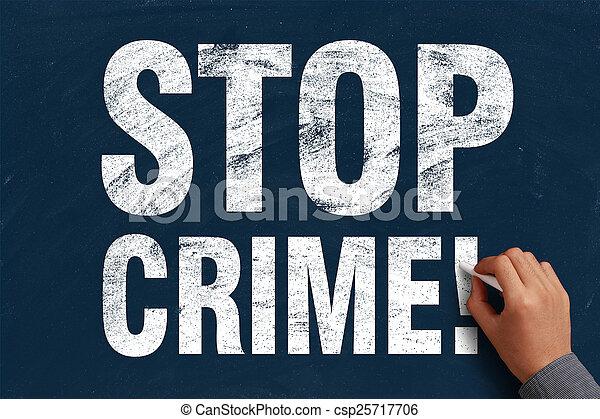 Detener el crimen - csp25717706