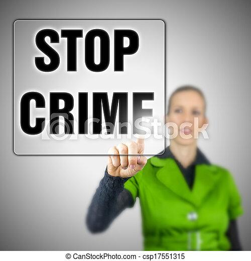 Detener el crimen - csp17551315