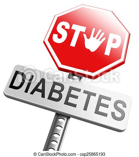 detener los logotipos de diabetes