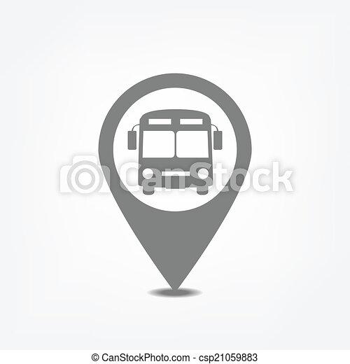 parada, ponteiro, autocarro - csp21059883