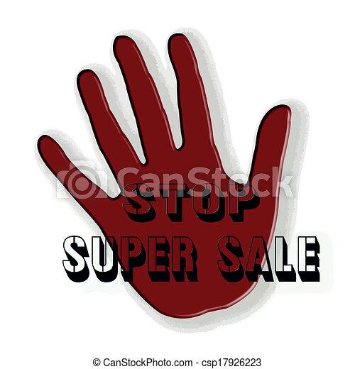 Detener súper venta - csp17926223