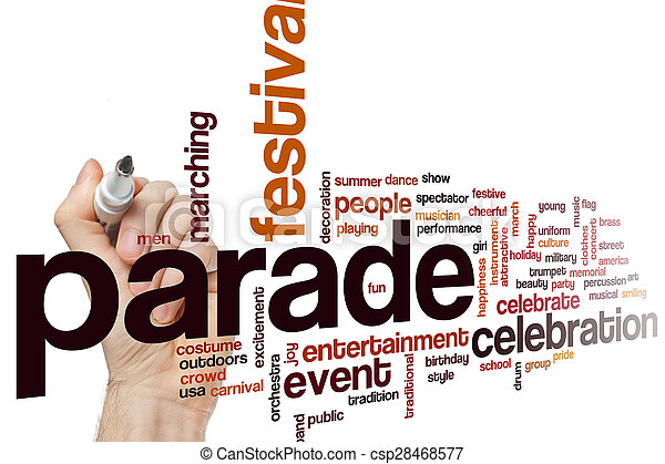 Parade word cloud - csp28468577