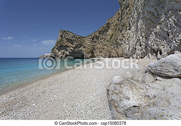 Paradise Beach on Corfu island, Greece