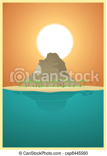 Paradise Desert Island - csp8445560