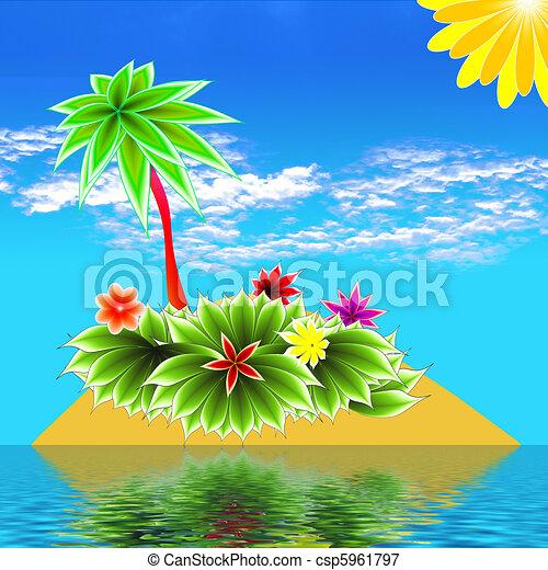 paradise island - csp5961797