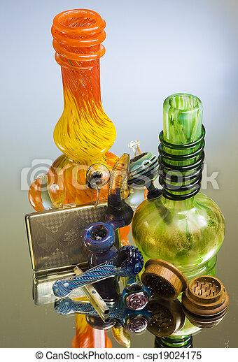 parafernália, marijuana - csp19024175