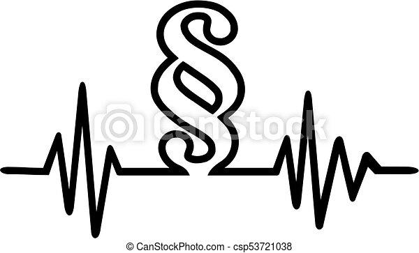 Paragraph heartbeat line - csp53721038