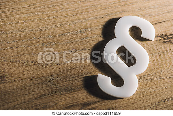 Paragraph Sign Of Law On A Wooden Table Law Concept Image Law