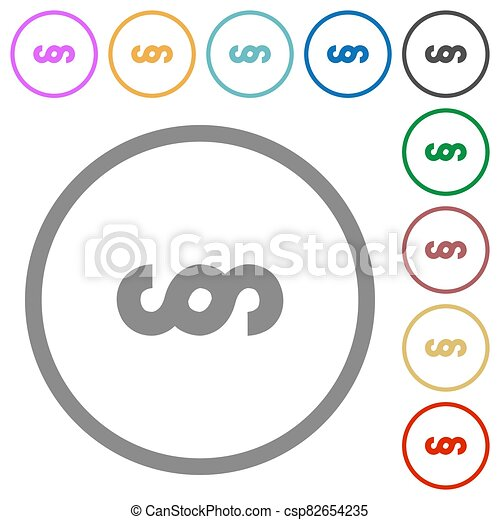 Paragraph symbol flat icons with outlines - csp82654235