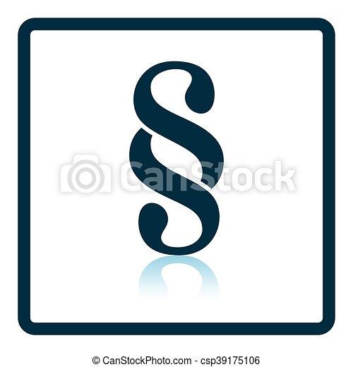 Paragraph symbol icon - csp39175106