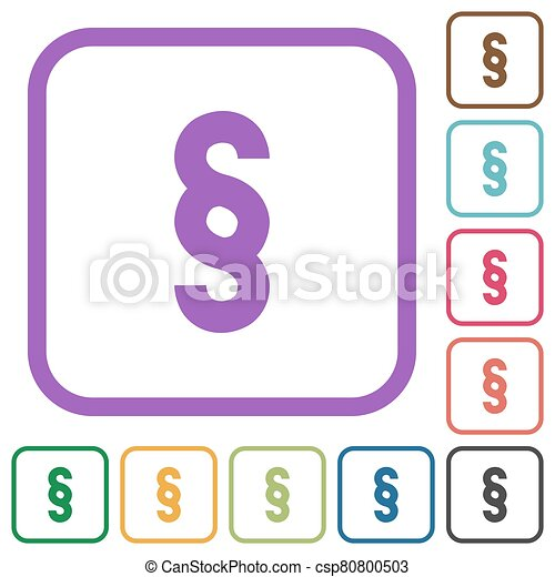 Paragraph symbol simple icons - csp80800503