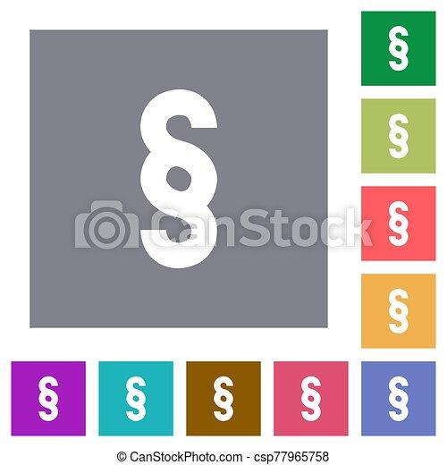 Paragraph symbol square flat icons - csp77965758