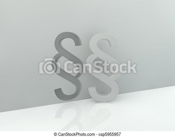 Paragraph symbol - csp5955957