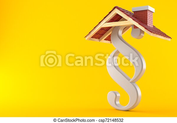 Paragraph symbol with roof - csp72148532