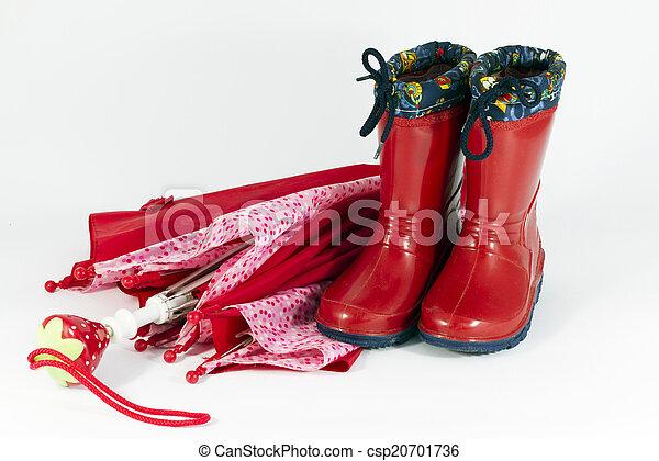 Umbrella y botas - csp20701736