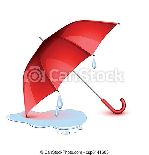 Un paraguas mojado - csp6141605