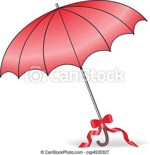 Un paraguas rojo - csp4530327