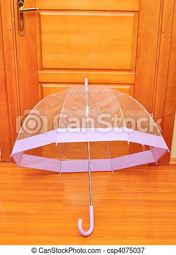 paraguas, transparente - csp4075037