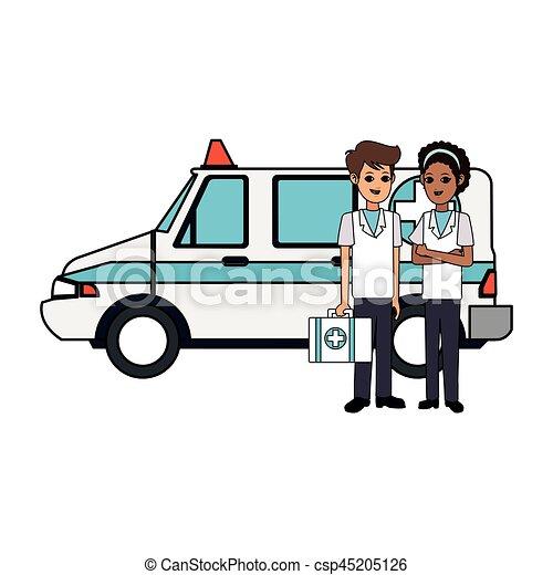 paramédico, imagen, salud, icono